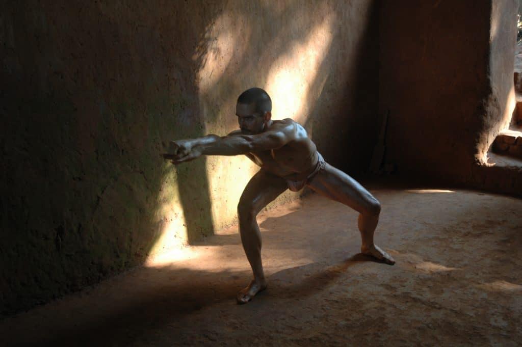 Kai Hitzer praciting the Arapukai Water Form