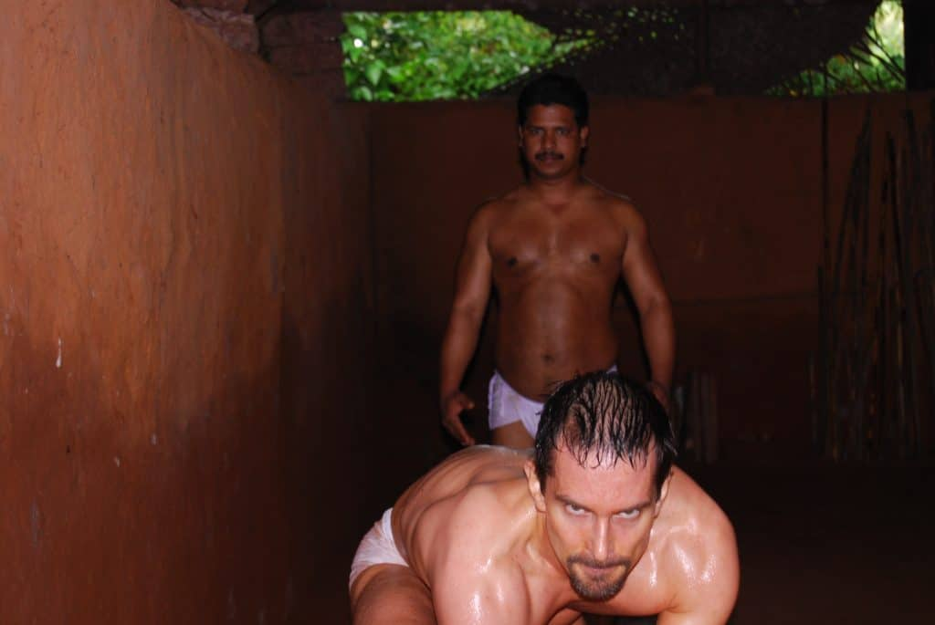 Kai Hitzer practicing the Pilaitangi Kalari Form