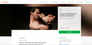Kalari Fundamentals Summer Intensive Barcelona 2017